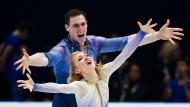 Goldnes Paar: Aljona Savchenko und Bruno Massot