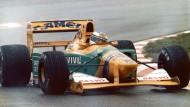 """Für die """"deutschen Fans"""": Michael Schumachers erster Grand-Prix-Sieg – in einem Benetton-Ford am 30. August 1992"""