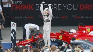 Hamilton besiegt die Mercedes-Zweifel