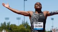 Christian Coleman droht Ungemach nach womöglich verpassten Doping-Tests.