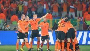 Strahlend Orange - Holland im Halbfinale