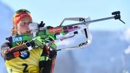 Einfach die Beste: Laura Dahlmeier steht vor dem Gesamtsieg im Biathlon-Weltcup