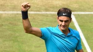 Federer zieht ins Halbfinale ein