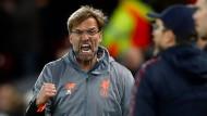 On fire! Jürgen Klopp steht mit dem FC Liverpool vor dem Finaleinzug