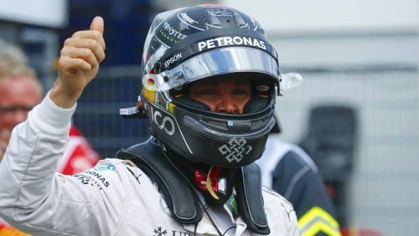 Rosberg holt die Pole Position