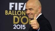 Besserverdiener beim Fußball-Weltverband: Präsident Gianni Infantino.
