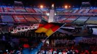Die Schlussfeier der Paralympics in Südkorea.