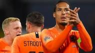 Der weltbeste Verteidiger? Virgil van Dijk könnte in diesem Jahr Messi und Ronaldo überflügeln.