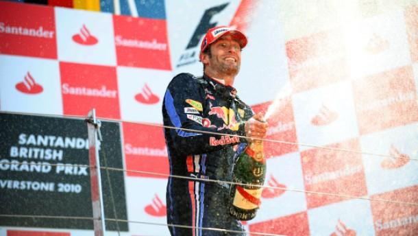 Flügel für den Nummer-zwei-Fahrer Webber