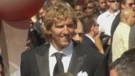 Dirk Nowitzki auf dem Roten Teppich