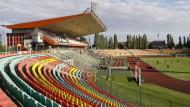 Ärgernis für die Spielerinnen: Der Jahn-Sportpark ist Austragungsstätte des Champions-League-Finals