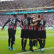 Überzeugende Leistung, aber nur ein Torjubel: Die Eintracht gewinnt gegen Hoffenheim.
