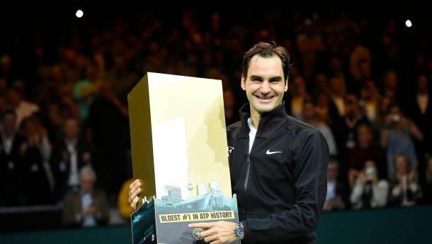 Roger Federer ist die älteste Nummer eins der Tennisgeschichte