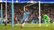 Der König lebt: Kun Aguero trifft dreifach gegen die Borussia