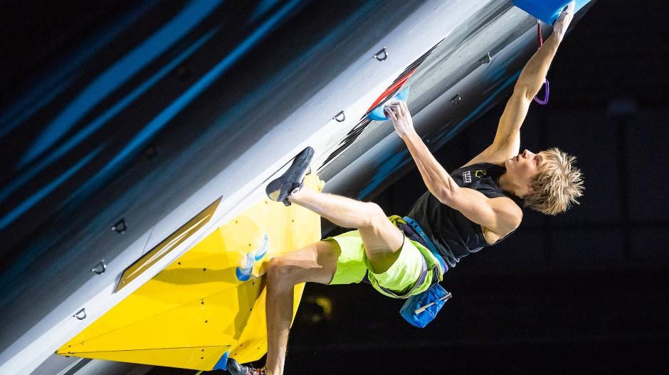 Spider-Man: Alexander Megos klettert zu WM-Silber in der Disziplin Lead