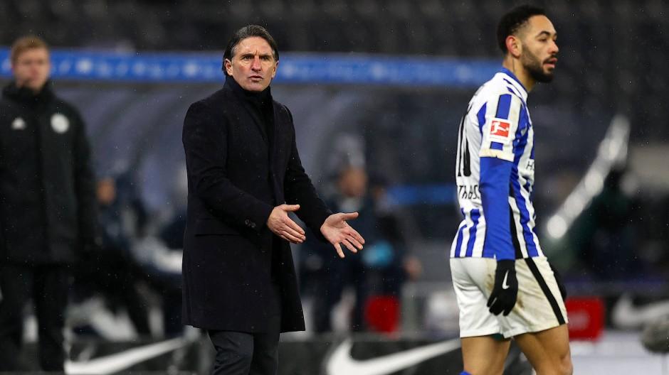 Er braucht dringend ein Erfolgserlebnis: Bruno Labbadia, Trainer von Hertha BSC