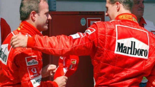 Barrichello fährt auf die Poleposition