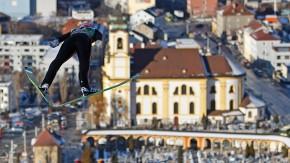 Auch Severin Freund zeigte auf der Bergisel-Schanze eine starke Leistung