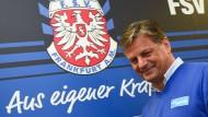 Der FSV Frankfurt will den Klassenverbleib mit der Kraft des neuen Trainers Falko Götz schaffen.