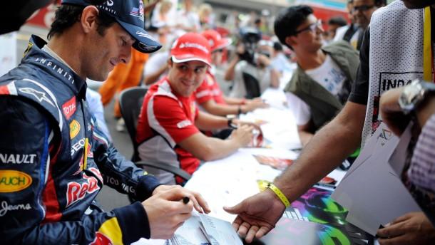 Erste Klasse, zweite Geige: Webber (vorne) und Massa