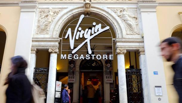 Das Gericht entscheidet, ob 26 Filialen von Virgin Megastore geschlossen oder restrukturiert werden