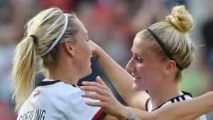 Deutsche Fußballfrauen siegen 12:0
