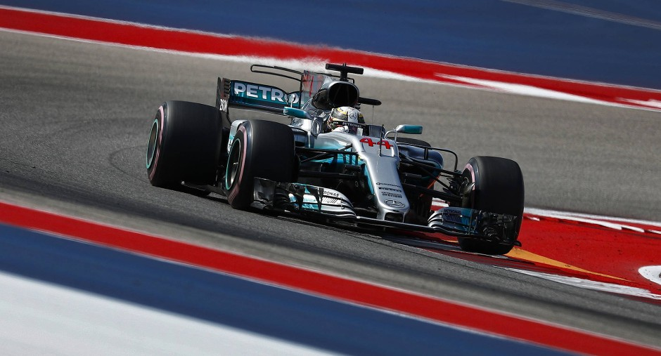 Lewis Hamilton fährt auch in der Qualifikation von Austin vornweg.