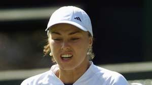 Wimbledon: Aus für Martina Hingis - Sampras souverän