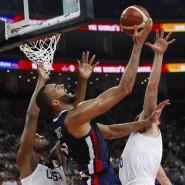 Korb blockiert: Frankreich gewinnt mit Rudy Gobert gegen das Team USA.