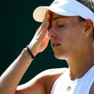 Aus und vorbei: Titelverteidigerin Angelique Kerber scheidet früh aus in Wimbledon.