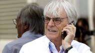 Immer noch mittendrin im Fahrerlager der Formel 1: Bernie Ecclestone.