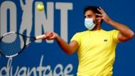 Bei der ersten Live-Sportveranstaltung seit Wochen wird Sicherheit großgeschrieben. Für Benjamin Hassan gehört der Mund-Nasen-Schutz dazu.