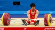 Wenn Silber nicht genügt: Gewichtheber Wu Jingbiao 2012 in London
