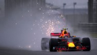 Red Bull-Pilot Max Verstappen im Regen von Schanghai: Im Chaos plötzlich mit der schnellsten Zeit