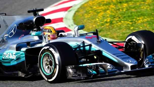 Hamilton fährt gleich vorneweg