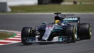 Hamilton meldete sich in Spanien mit der Poleposition zurück.