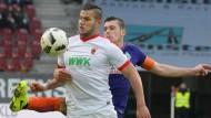 Augsburgs Raul Bobadilla gelang der entscheidende Treffer in der Nachspielzeit.