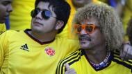 Unverwechselbarer Frisur-Fußballer: der Kolumbianer Carlos Valderrama