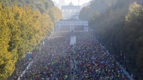 Auf breiter Front: Am Berlin-Marathon nahmen 40.000 Läuferinnen und Läufer teil.