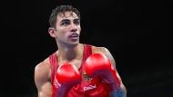 Der deutsche Amateurboxer Artem Harutyunyan bei den Olympischen Spielen 2016 in Rio de Janeiro