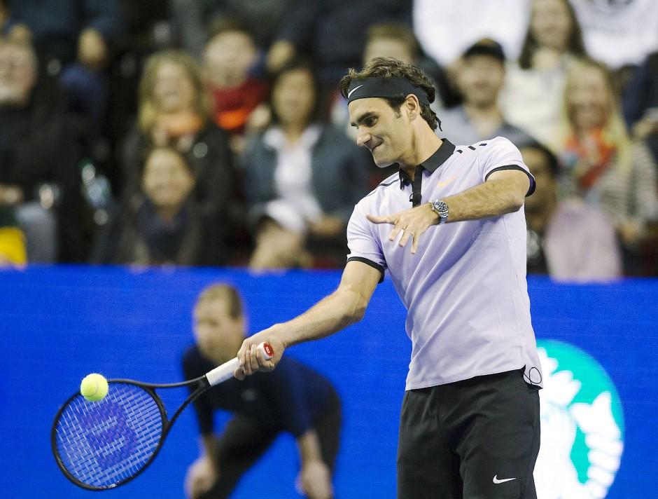 """Nimmt derzeit nur noch an Charity-Turnieren teil: Roger Federer beim """"Match for Africa"""" in Seattle."""