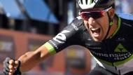 Jubelschrei: Fraile sicherte sich die elfte Etappe des Giro.