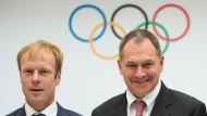 Ein Duo für Oslo: Langlaufstar Björn Dählie (links) und NOC-Generalsekretär Inge Andersen