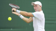 Als wäre es ganz selbstverständlich: Dominik Köpfer in Wimbledon