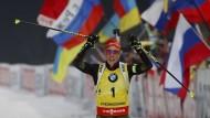 Erfolgreicher Olympiatest: In Südkorea holte Dahlmeier ihren neunten Saisonsieg.