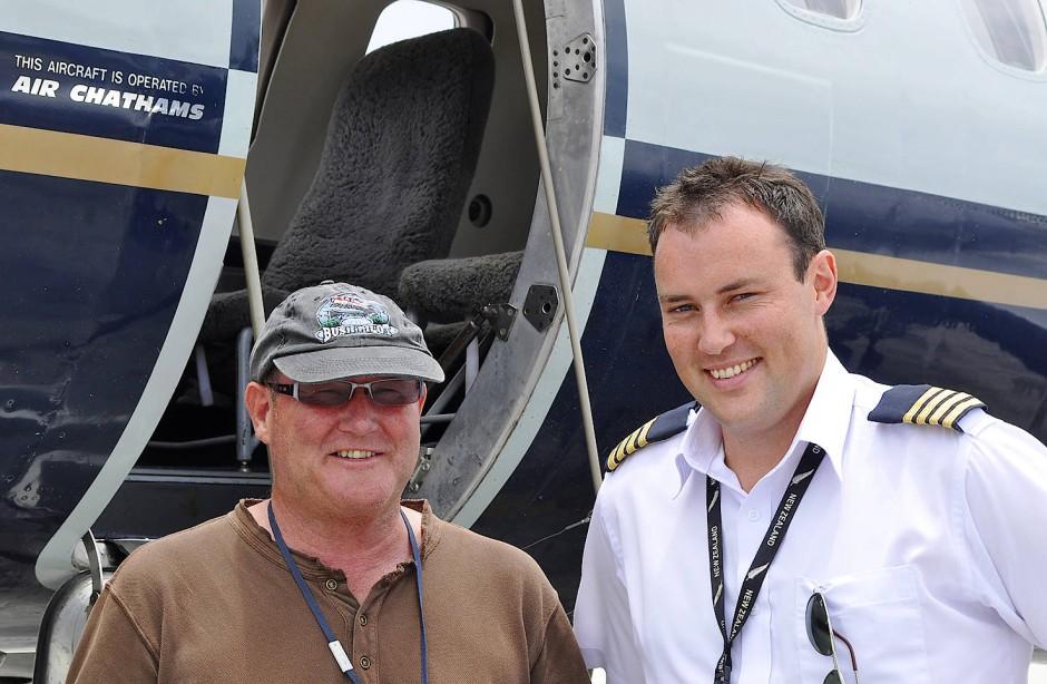 Fliegerfamilie: Craig und Duane Emeny.