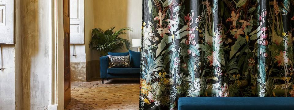 beim innendesign spielen stoffe wieder eine gro e rolle. Black Bedroom Furniture Sets. Home Design Ideas