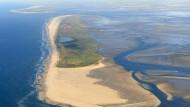 Der Blick von oben: Eine Luftaufnahme der ostfriesischen Insel Juist.