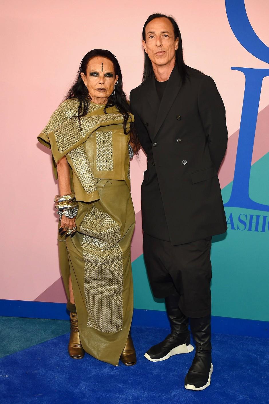 Bei der Launch-Party in Los Angeles vertraute Designer Rick Owens ganz auf seine Frau Michèle Lamy.