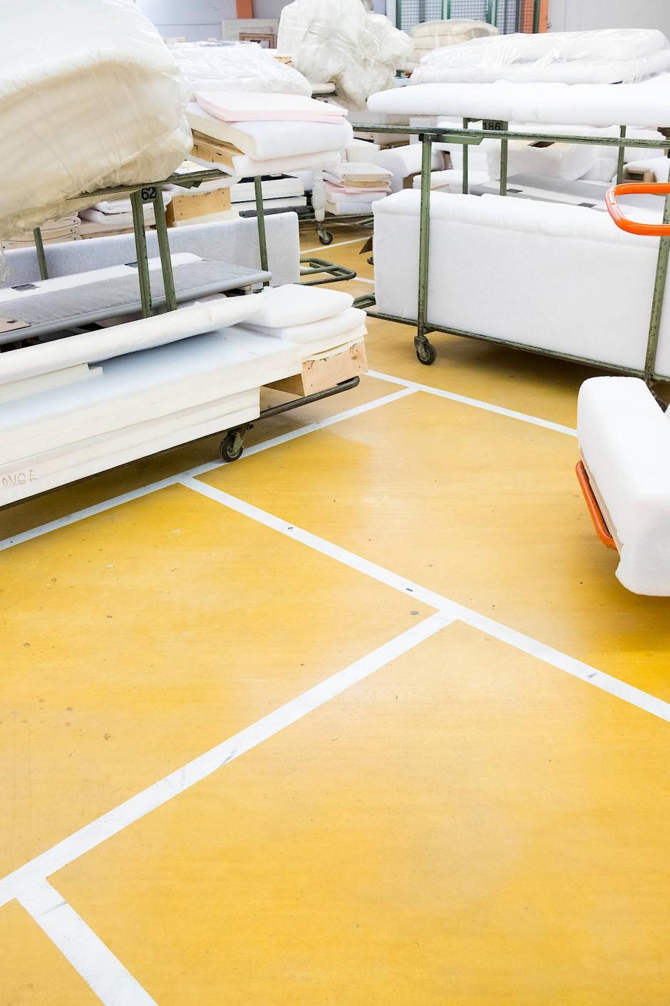 Ein Blick in die Produktion: Bei W.Schillig werden so die Prototypen gefertigt.
